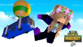 SUCKED INTO FORTNITE FROM MINECRAFT?!   Minecraft Fortnite In Minecraft   Little Kelly