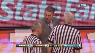 Matt Painter Ejected from Game vs. Illinois