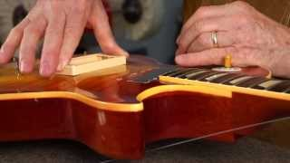 Watch the Trade Secrets Video, How to fit a Les Paul pickup ring to the curved top