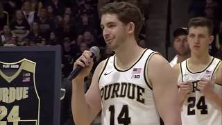 Purdue Basketball Honors Grady Eifert, Ryan Cline on Senior Day | B1G Basketball