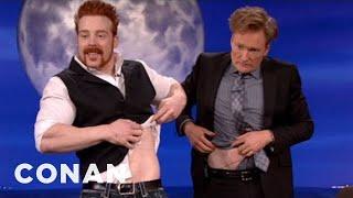 WWE Champ Sheamus Body Slams Conan's Hair Into Shape - CONAN on TBS
