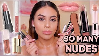 MY FAVORITE NUDE LIP COLORS: Drugstore + High End! | JuicyJas