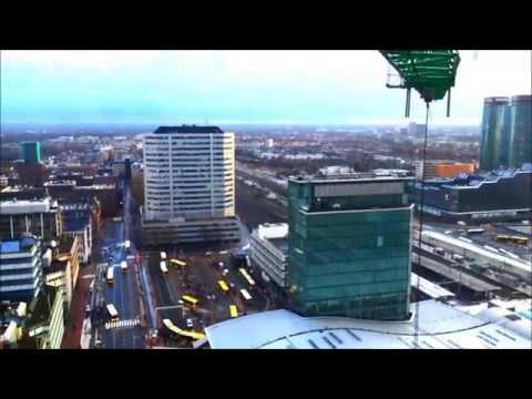 Utrecht 360 graden vanaf bouwkraan Stationsplein Oost