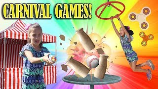 I WON A FIDGET SPINNER!!! World's Hardest Carnival Game!