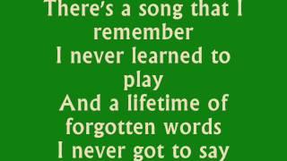 Parachute - Chris Stapleton (Lyrics)