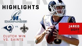 Jared Goff's Clutch Day vs. New Orleans