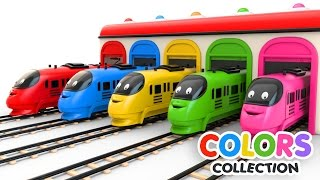 Colors for Children to Learn with Toy Trains - Colors Videos Collection