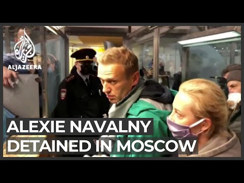 Kremlin critic Navalny detained as he returns to Russia