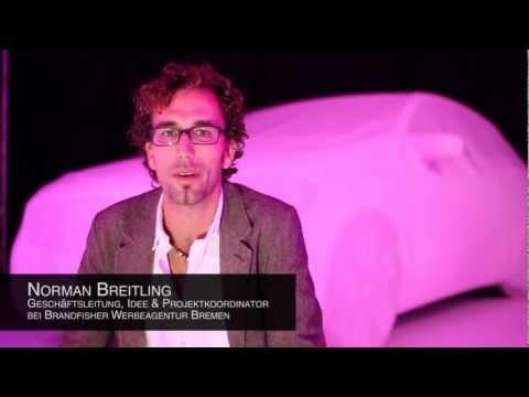 Making-of - Original Mercedes A-Klasse 2012 - 3D Carmapping - VorAb-Premiere Überseestadt Bremen
