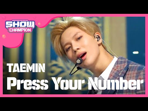 (Showchampion EP.176) TAEMIN - Press Your Number
