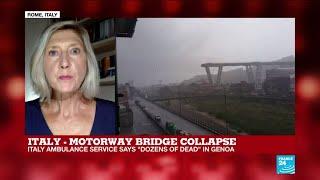 "Motorway bridge collapse in Italy leaves ""scenes of shock and terror"""