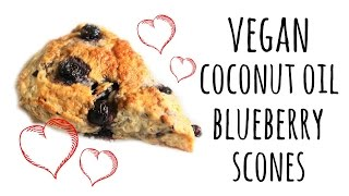 Vegan Coconut Oil Blueberry Scones   ASMR