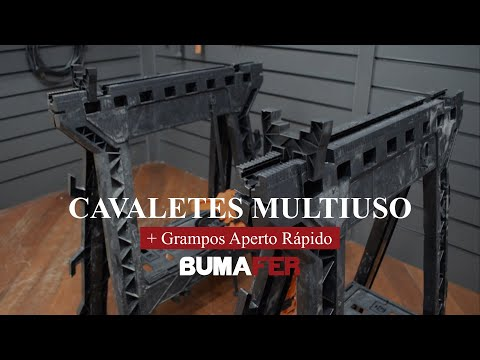 Cavaletes multiuso + Grampos Aperto Rápido Bumafer - 2 Peças - Vídeo explicativo