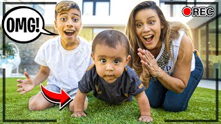 BABY MILAN is Finally CRAWLING!!! (CAUGHT ON CAMERA) | The Royalty Family