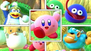 Kirby Star Allies: All Kirby & Friend's Victory Dance Animations