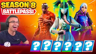 Nick Eh 30 reacts to SEASON 8 Intro and Battle Pass!