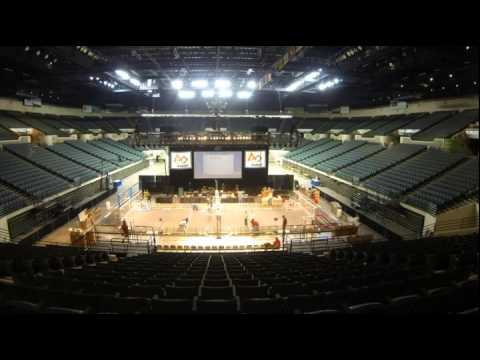 Timelapse for 1st Robotics competition at the Wolstein Center