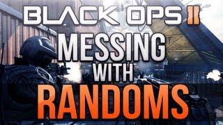 Black Ops 2 - Messing with Randoms #1! (Trolling Squeakers & RAGE!)
