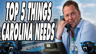 Carolina Panthers | Top 5 Things GM Scott Fitterer NEEDS to Do