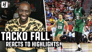 Tacko Fall Reacts To Tacko Fall Highlights!