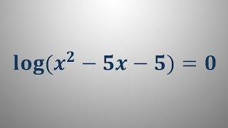 Logaritemska enačba 8