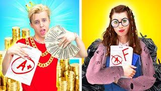 GIRLS vs BOYS || NORMAL Student vs PRINCIPAL SON | When your Life is UNFAIR by La La Life Musical