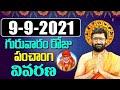09 September 2021 Thursday Daily Panchangam  Telugu Panchangam Rasiphalalu Astro Syndicate