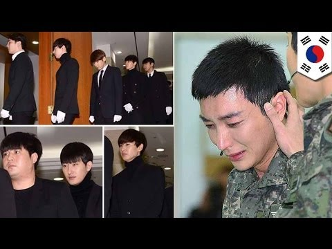 Super Junior attends family funeral