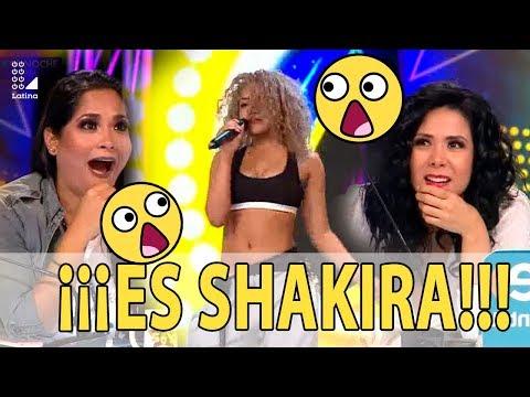 Imitadora de Shakira dejó en shock al jurado de Yo Soy con su excelente voz y movimiento de caderas