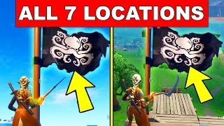 Visit all Pirate Camps – ALL 7 LOCATIONS WEEK 1 CHALLENGES FORTNITE SEASON 8