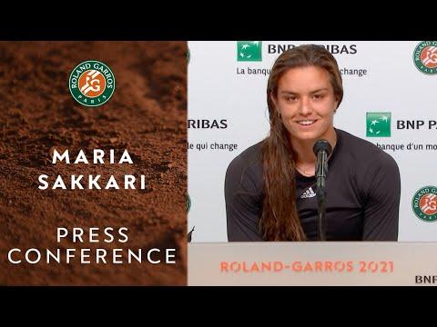 Maria Sakkari Press Conference after Quarterfinals I Roland-Garros 2021