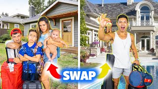 SWAPPING HOMES With our ASSISTANT for 24 Hours! (BAD IDEA)   The Royalty Family