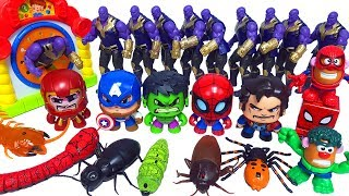 Marvel Avengers Hulk Spiderman, RC Spider Snake Animals & Monster insect go into the Box