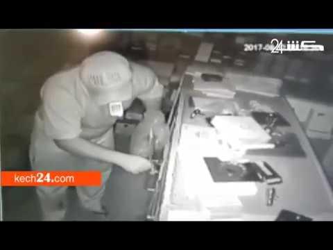 شاهد عملية سرقة ملايين السنتيمات من محل تجاري بمراكش