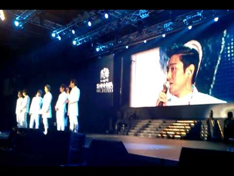 120616 Eric Speaks English in SHINHWA The Return Concert in SIngapore