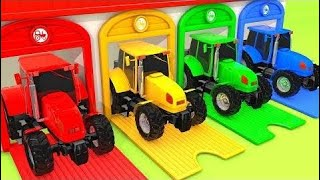 Learn Colors Street Vehicle Vs Tractor And Drop On Magic Liquids Sand Preten   Learn Color For Kids