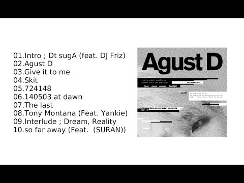 [FULL] Agust D - Agust D (BTS Suga 1st Mixtape) + DOWNLOAD