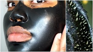 FIRST TIME USING A BLACK PEEL OFF MASK | SHILLS