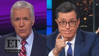 Stephen Colbert Reacts To Alex Trebek's Cancer Diagnosis