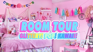♡ ROOM TOUR | MY GLITTERY POP KAWAII ROOM ♡