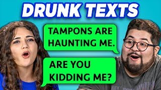 COLLEGE KIDS READ 10 DRUNK TEXTS (REACT)