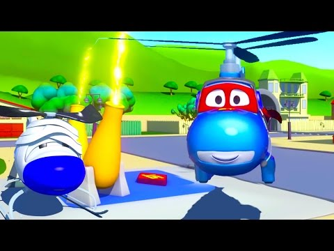 Carl Transform And The Helicopter In Car City Cars Trucks