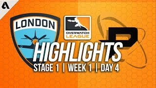 London Spitfire vs Philadelphia Fusion ft Birdring | Overwatch League Highlights OWL Week 1 Day 4