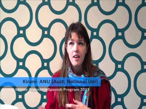 Kirani shares her experience when she participated in the Mente Argentina Intensive Spanish Program 2013. She is a student from the Australian National University, Australia.