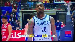 Lebanon 🇱🇧 Vs South Korea 🇰🇷, FIBA WC Qualifiers, Fourth Quarter, Nuhad Nawfal Stadium~24 Feb 19