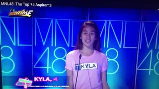 Idol MNL48 Kyla's intro during 1st top10 dance performance @showtime.