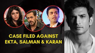 Sushant suicide: Case filed against Salman Khan, Karan Joh..