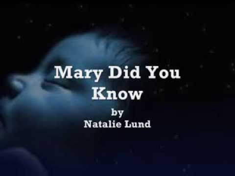 KNOW YOU MARY DID