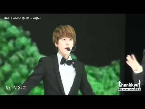 110816 Perfection KYUHYUN FULL HD FANCAM (SJ-M Fanmeeting)