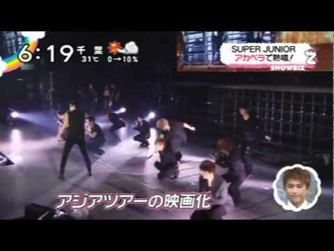 110706 SJ- KRY SUPER JUNIOR SUPER SHOW3 3D Japanese NEWS
